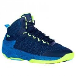 Chaussure de Basketball adulte confirmé/expert  Homme/Femme Shield 500 bleu jaun