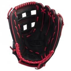 Gant de baseball main gauche pour enfant A360 G 12 pouces noir et rouge