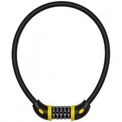 ANTIVOL CABLE COMBI A CHIFFRE D12 EN 65 CM NOIR MAT