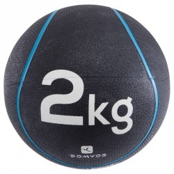 LESTE DE FITNESS ET MUSCULATION MEDECINE BALL 2 KG