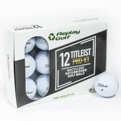 Balles de golf recyclées Titleist ProV1 X12 Blanc