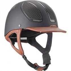 Casque équitation C900 SPORT noir et marron