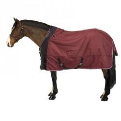 Couverture imperméable équitation poney cheval ALLWEATHER 300 1000D bordeaux