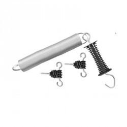 Kit de fermeture à ressort 1 poignée et 2 isolateurs