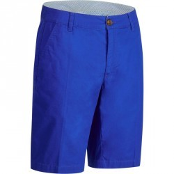 Bermuda de golf homme 500 temps chaud bleu foncé