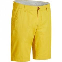 Bermuda de golf homme 500 temps chaud jaune