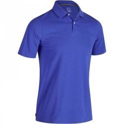 Polo de golf homme manches courtes 500 temps chaud bleu chiné
