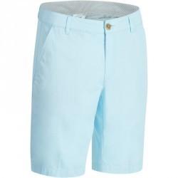 Bermuda de golf homme 500 temps chaud bleu ciel