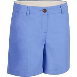 Short de golf femme 500 temps chaud bleu lavande