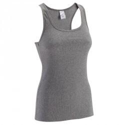 Débardeur Gym & Pilates  femme gris chiné