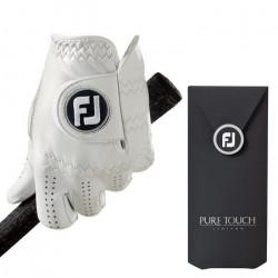 Foot Joy Footjoy Pure Touch - Gants de Golf pour la Main Gauche (Composite) Couleur: Blanc Taille: L - 64013E