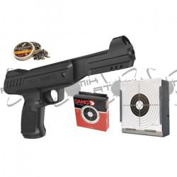 Pistolet à plomb 4,5 mm P900 pack plombs et cible