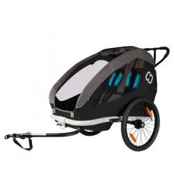 Remorque de vélo pour enfant Hamax Traveller - noir - TU