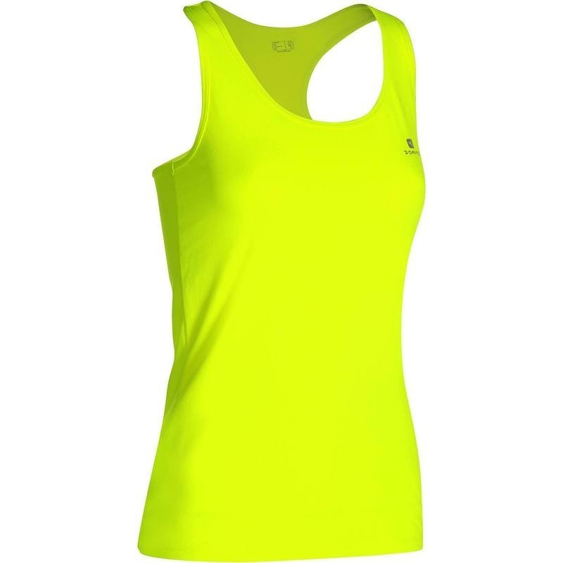 Débardeur fitness cardio femme jaune fluo MY TOP