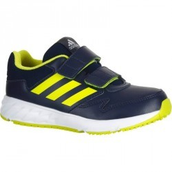 Chaussures marche sportive enfant Fastwalk scratch bleu / jaune