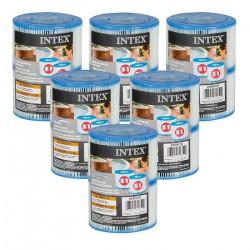 Cartouches Spa Intex - 6 lots de 2 cartouches de filtration soit 12 cartouches 33, 8 cm
