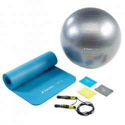 Kangui - Tapis et ballon de gym, 3 bandes élastiques et corde à sauter - HOME FITNESS - Pack Basic