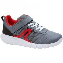 Chaussures marche sportive enfant Soft 140 gris / rouge