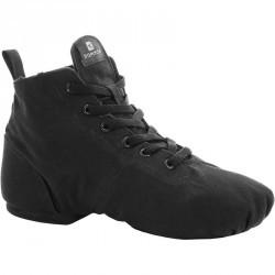 Chaussures toile haute danse moderne noires