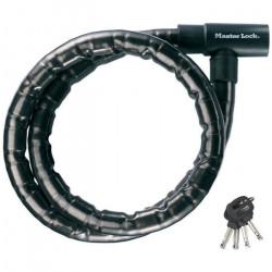 Master Lock Câble antivol à clé Acier 1,2 m x 22 mm 8115EURDPS