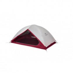 Tente de randonnée pour 2 personnes légère et respirante. Armature en aluminium et double toit en tissu nylon ripstop. Poids