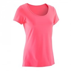 T-shirt ENERGY fitness femme rose fluo