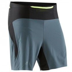 Baggy cuissard compression trail running noir gris homme