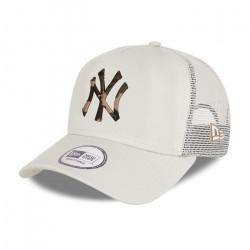 Casquette de Baseball New York Yankees Camo Infill Trucker - beige - TU