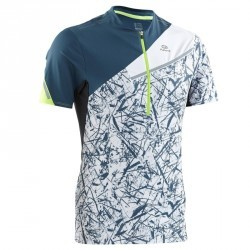 Tee shirt manches courtes trail running bleu graph homme