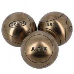 Boules de pétanque Atx  competition (1) 71mm - Obut 700g Argent Métalisé