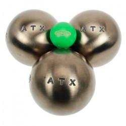 Boules de pétanque Atx *** competition 74mm - Obut 680g Argent Métalisé