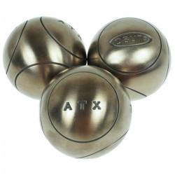 Boules de pétanque Atx  competition 75mm : m - Obut 700g Argent Métalisé