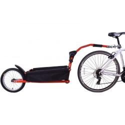 Peruzzo Trail Angel Cargo Chariot Vélo 10 pouces Unisexe Rouge/Noir Baroque