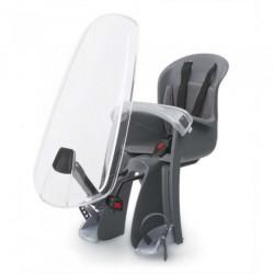 Polisport siège de vélo pour Bilby junior avec pare-brise noir/gris