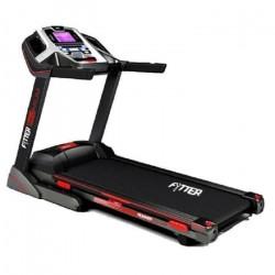 FYTTER Tapis de course pliable RU-06R - 3 CV, 18 km/h, 15 niveaux d'inclinaison, MP3, USB, écran LCD et système de montage ra