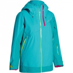 Veste de ski freeride femme free 900 turquoise