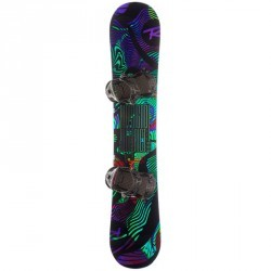 Pack snowboard freestyle homme, district noir et vert