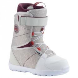 Chaussures de snowboard, all mountain, femme, Maoke 300 - Fast Lock 2Z, blanche