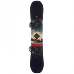 Pack snowboard freestyle et all mountain, homme, Pulse, noir rouge et bleu