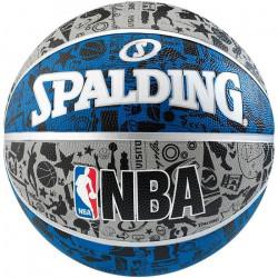 Ballon de basket-ball extérieur Spalding graffiti