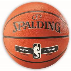 Spading NBA Silver ballon basket T7 ext caoutchouc
