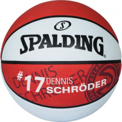 Ballon Spalding NBA player ball Dennis Schroeder - rouge - Taille 7
