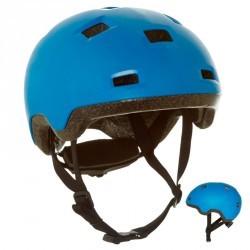 Casque roller skateboard trottinette vélo B 100 bleu