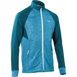 SWEAT DE SKI HOMME MID WARM 500 PETROL