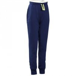 Pantalon chaud slim Gym Energy garçon bleu marine jaune