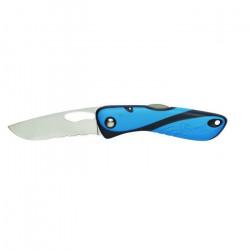 Couteau Offshore lame crantée BLEU/NOIR  WICHARD