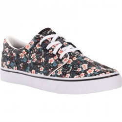 Chaussures basses skateboard-longboard adulte VULCA 100 flowers noires