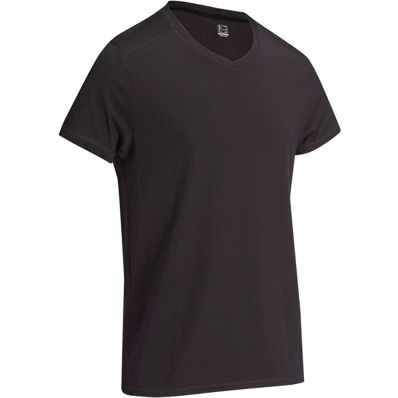 T-Shirt slim Gym & Pilates homme noir