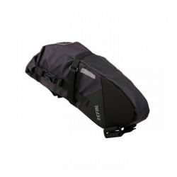 Sacoche de selle velo zefal z-adventure r5 pour 5l noir etanche fixation velcro ( l 370x 70à175 x130mm) charge maxi 5kgs