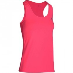 Débardeur fitness cardio femme rose fluo MY TOP Energy